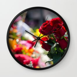 Bouquet of Love Wall Clock