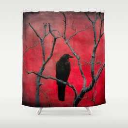 The Color Red Shower Curtain