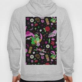 Rockabilly Monster Luau in Black + Pink Hoody