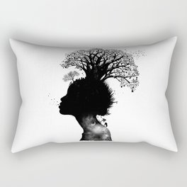 Natural Black Woman Rectangular Pillow