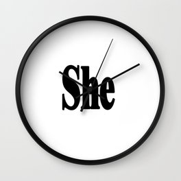She Wall Clock