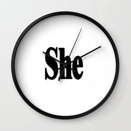 She Wall Clock