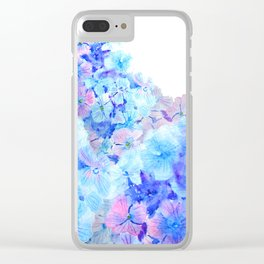 mountain of hydrangea Clear iPhone Case