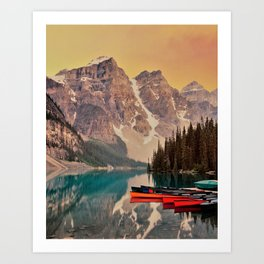 scenic beauty deep valley Art Print