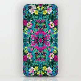 Neon Floral iPhone Skin