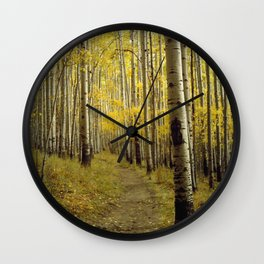 Beaconing Trail of Gold Wall Clock