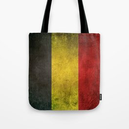 Old and Worn Distressed Vintage Flag of Belgium Tote Bag