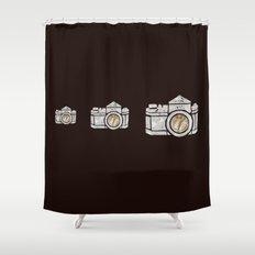 White Camera Shower Curtain