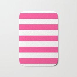Barbie Pink (2004-2005) - solid color - white stripes pattern Bath Mat