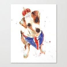 LONDON - Jack Russell Art - Union Jack Canvas Print