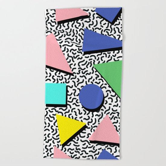 Memphis pattern 5 Beach Towel