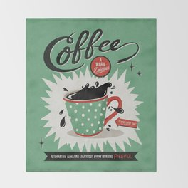 Saved By Coffee Throw Blanket