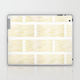 Luxury Gold Foil Geometric Stripes Vector Pattern Hand Drawn Abstract Lines Laptop & iPad Skin
