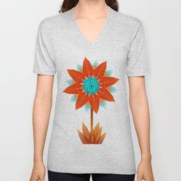 Fire bloom Unisex V-Neck