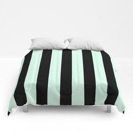 Bold Stripes (Mint & Black) Comforters