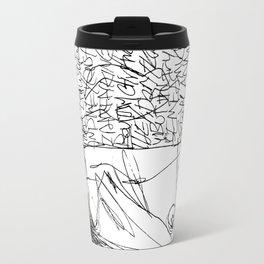 Line and Words - 2 Travel Mug