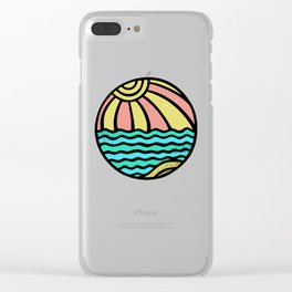 BEACHBALL Clear iPhone Case