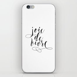 JOIE DE VIVRE, French Quote, French Poster, Inspirational Quote,Typography Print iPhone Skin