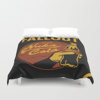 coca cola Duvet Covers featuring Nuka Cola by sgrunfo