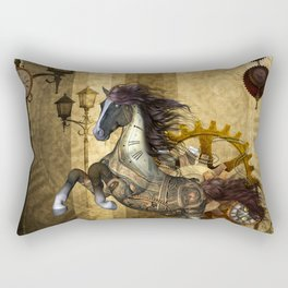 Awesome steampunk horse Rectangular Pillow