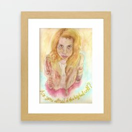 Bad Wolf Framed Art Print