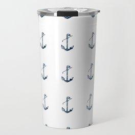 Nautical Marine Anchor Sailor Seamless Pattern Travel Mug