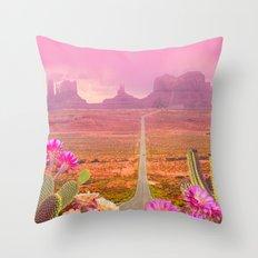 Road landscape Throw Pillow