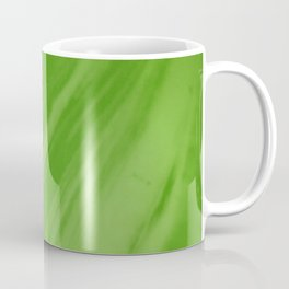Blurred Emerald Green Wave Trajectory Coffee Mug