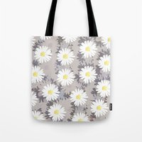 daisies Tote Bags featuring Daisies by Georgiana Paraschiv