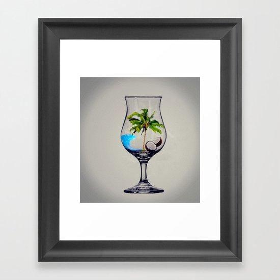 MixMotion: Tropical Drinks Framed Art Print