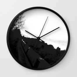 The Train//b&w Wall Clock