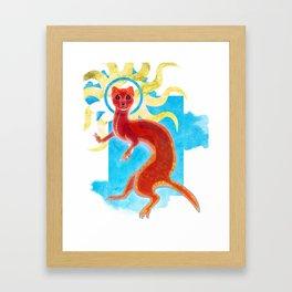 Enlightenment Weasel Framed Art Print