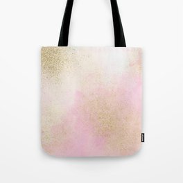 Pretty In Pink And Gold Delicate Abstract Painting Tote Bag