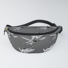 F/A-18 Hornet Military Fighter Jet Airplane Cartoon Fanny Pack