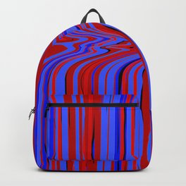 red and blue flowing Backpack