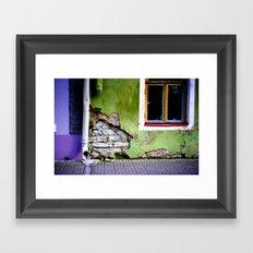 Worn Away Framed Art Print