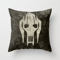 general Throw Pillows featuring General Grievous by Some_Designs
