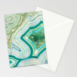 Sea Spray Crystal Agate Slice Stationery Cards