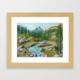 beautiful place Framed Art Print