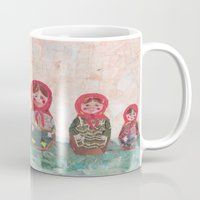emma stone Mugs featuring Emma by GiGi Garcia Collages