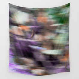 Fast in Flight - A Colorful Abstract Motion Blur Wall Tapestry