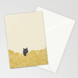 Cat and Yarn Stationery Cards
