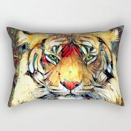 Fantazi (Tiger is Not Amused II) Rectangular Pillow