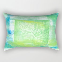 blue & green peacock Rectangular Pillow