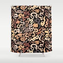Morph flavored noodles Shower Curtain