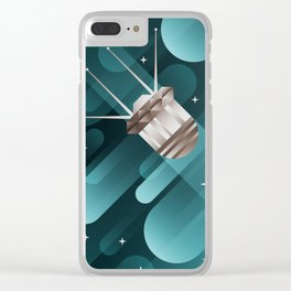 Touching the Moon Clear iPhone Case