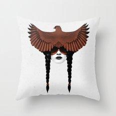 Dark Cardinal Throw Pillow