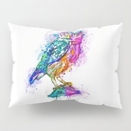 Colorful Owl Pillow Sham