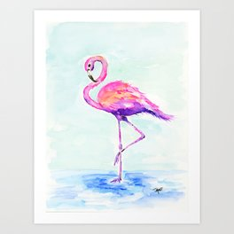 Flamingo Love Art Print