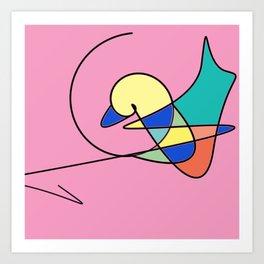 Magic Duck Art Print
